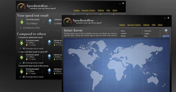 برنامج, فعال, لقياس, الاشارة, ومعرفة, سرعة, الانترنت, والتحميل, Speedtest4free
