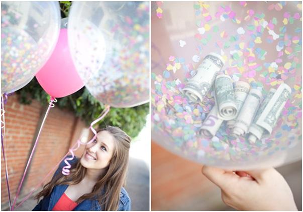 balon içerisinde para sürpriz