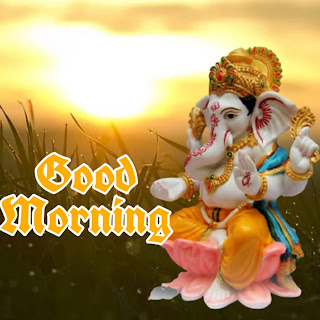 Good Morning Ganesha images photo pictures wallpaper free download