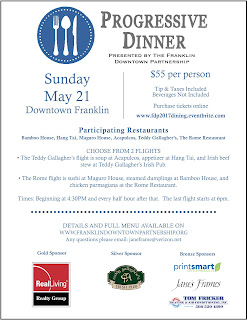 Downtown Franklin Progressive Dinner Tickets On Sale - May 21