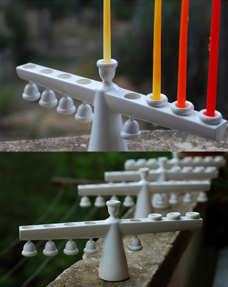 'Fragile' Menorah by Studio Kahn