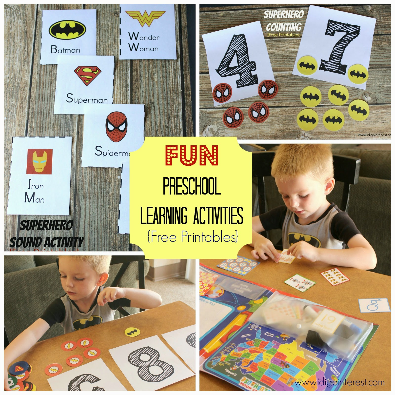I Dig Pinterest Make Learning Fun With Disney Jr Preschool Superhero Sounds Amp Counting Free