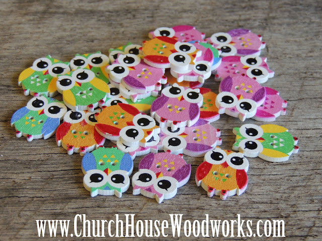 DIY Sewing Owl Buttons by Church House Woodworks