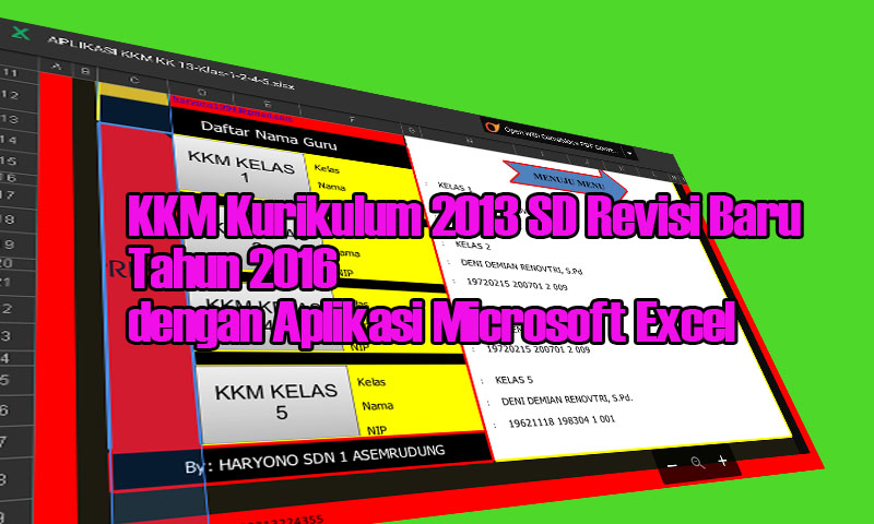 KKM Kurikulum 2013 SD Revisi