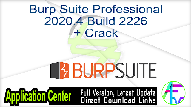 Burp Suite Professional 2020.4 Build 2226 + Crack
