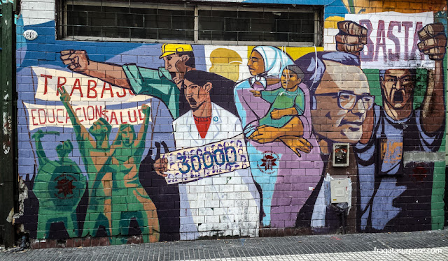 Grafite na Avenida de Mayo, Buenos Aires