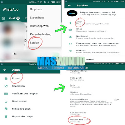 Begini cara membuka nomor terblokir pada WhatsApp 2019