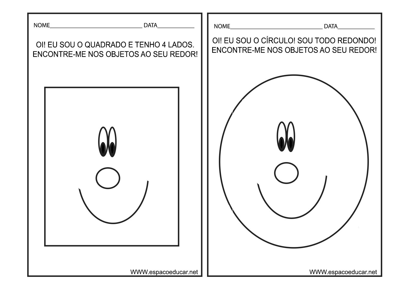 Well-known ESPAÇO EDUCAR: Caderno de Atividades Cores e Formas para Educação  QT73