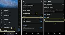 Cara Mengaktifkan Night Mode/Dark Mode/Mode Malam Otomatis di Telegram