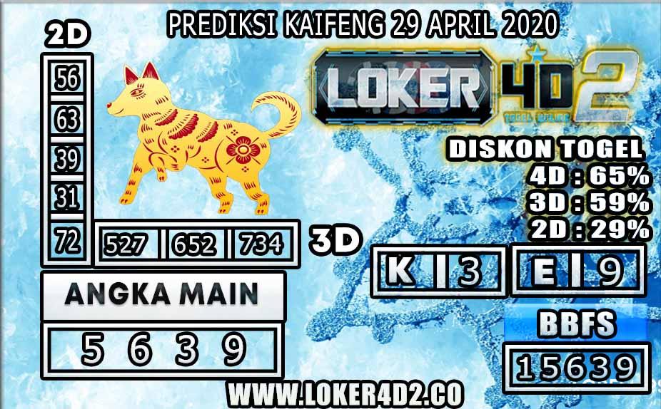 PREDIKSI TOGEL KAIFENG LOKER4D2  APRIL 2020