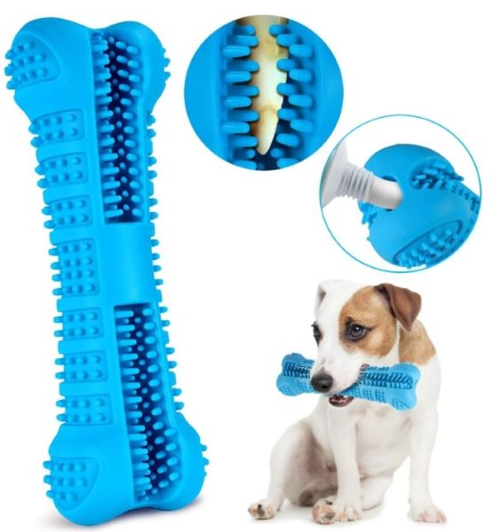 This teeth cleaning chew toy is a great gift for any dogs in your life. Help freshen breath for your pet
