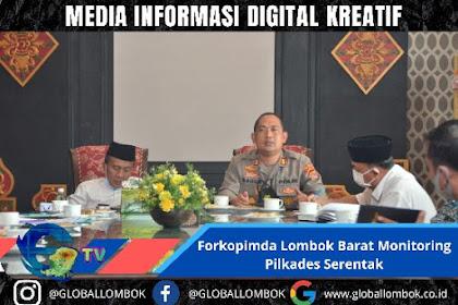 Forkopimda Lombok Barat Monitoring Pilkades Serentak