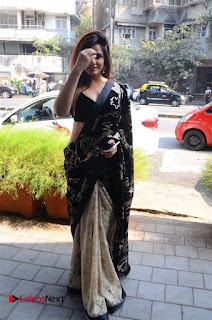 Actress Neetu Chandra Stills in Black Saree at Designer Sandhya Singh's Store Launch  0024.jpg