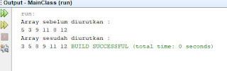 output bubble sort ascending java