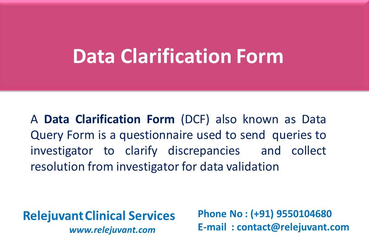 Data clarification form dcf relejuvant clinical services data clarification form dcf thursday november 30 2017 relejuvant clinical services 0 comments maxwellsz