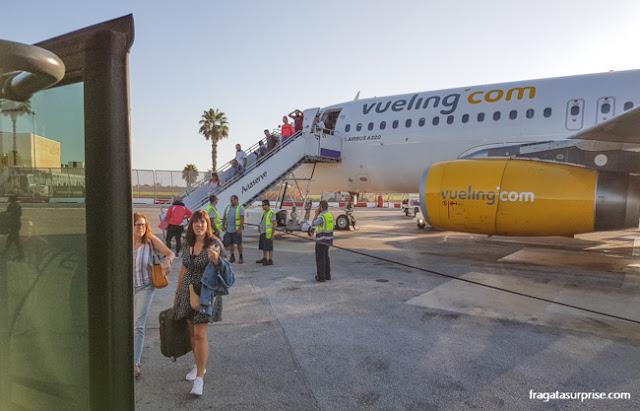 Desembarque no Aeroporto Internacional de Malta
