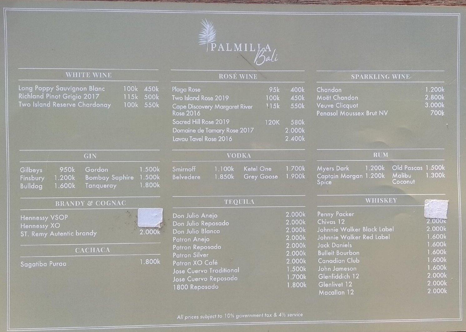 REVIEW PALMILLA BEACH CLUB MELASTI BALI + MENU - HelgaChrist