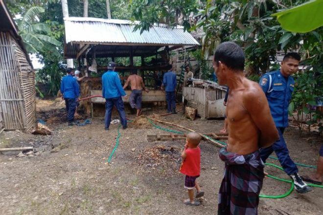 Bakar Sampah, Rumah Warga di Bone Nyaris Dilalap Si Jago Merah