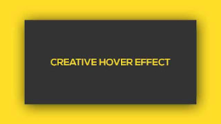 Creative Hover Effect using HTML CSS