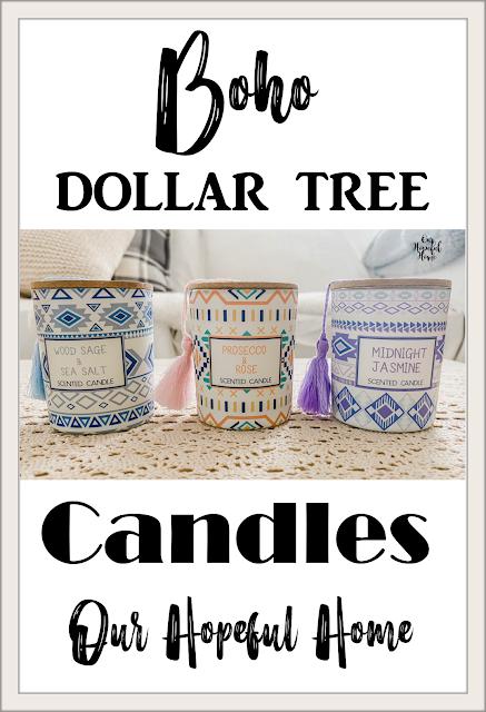 boho scented candle wooden lid tassel