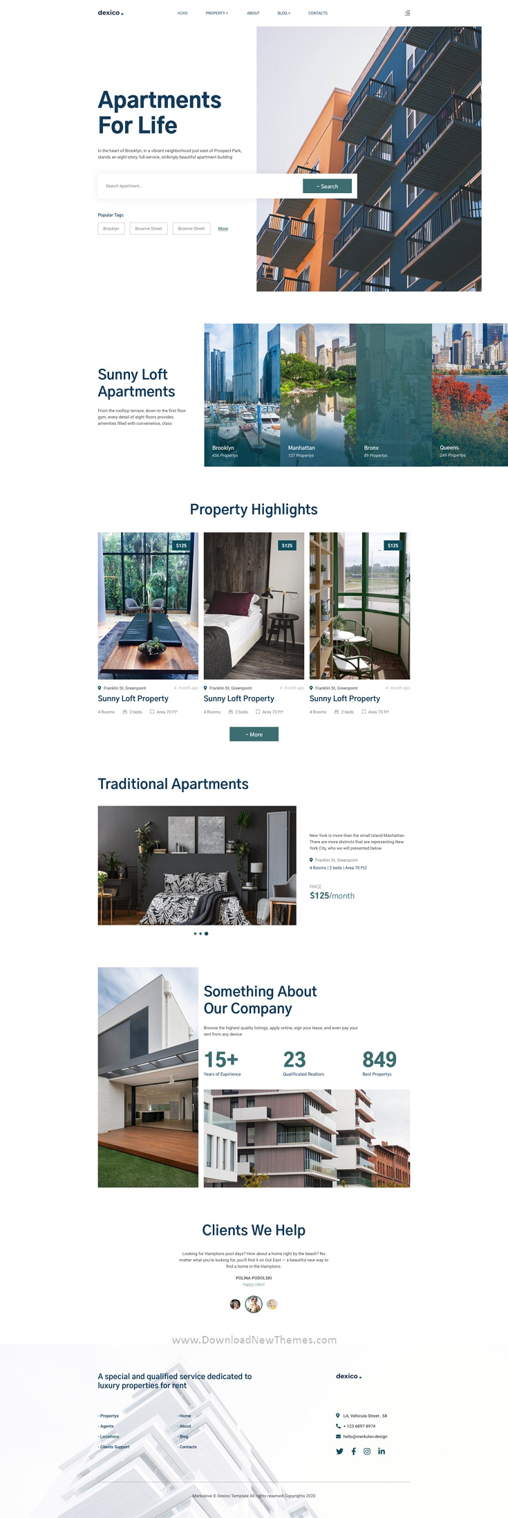 Apartment Rent Template for Photoshop
