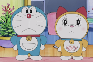 Doraemon wa neko na no ni nezumi o kowagaru