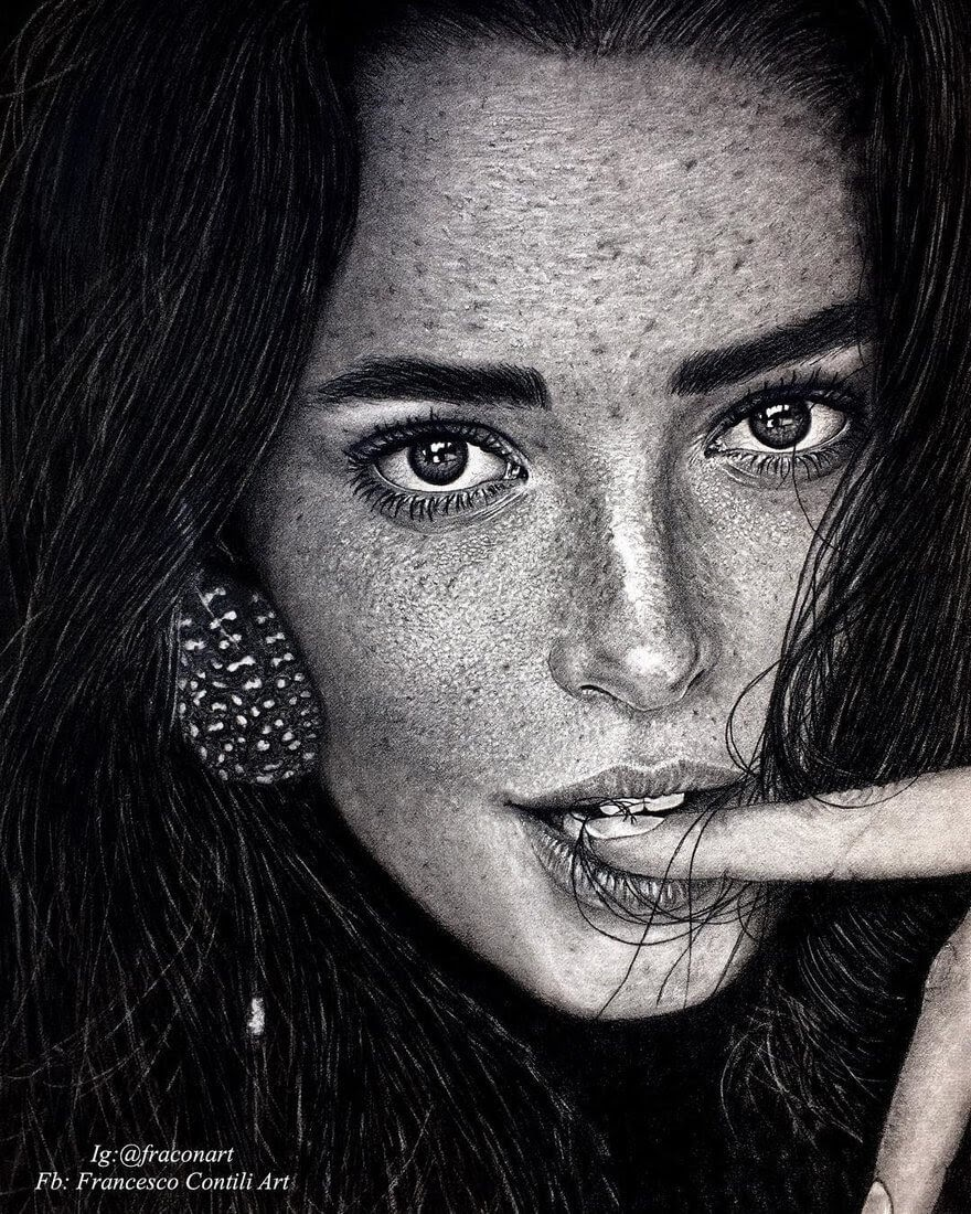 10-Weronika-Spyrka-Francesco-Contili-Realistic-Graphite-and-Charcoal-Portrait-Drawings-www-designstack-co