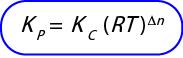 rumus hubungan Kc dan Kp