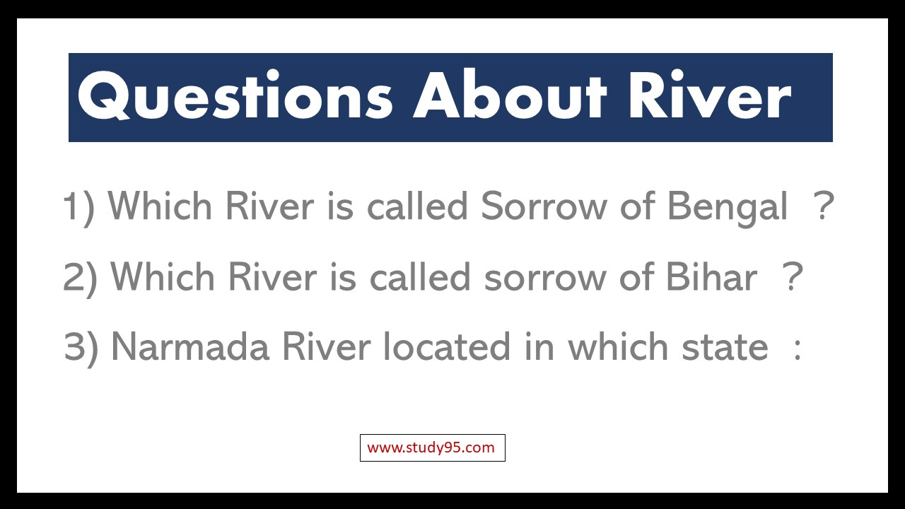 Questions on Rivers of India