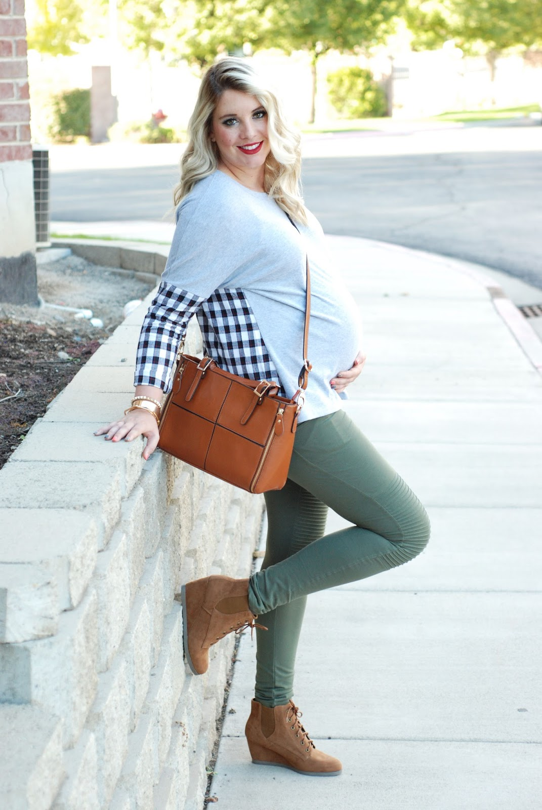 Choies, Plaid Shirt, Utah Fashion Blogger, Maternity Outfit