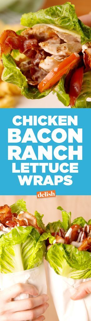 Healthy Chicken Bacon Ranch Lettuce Wrap