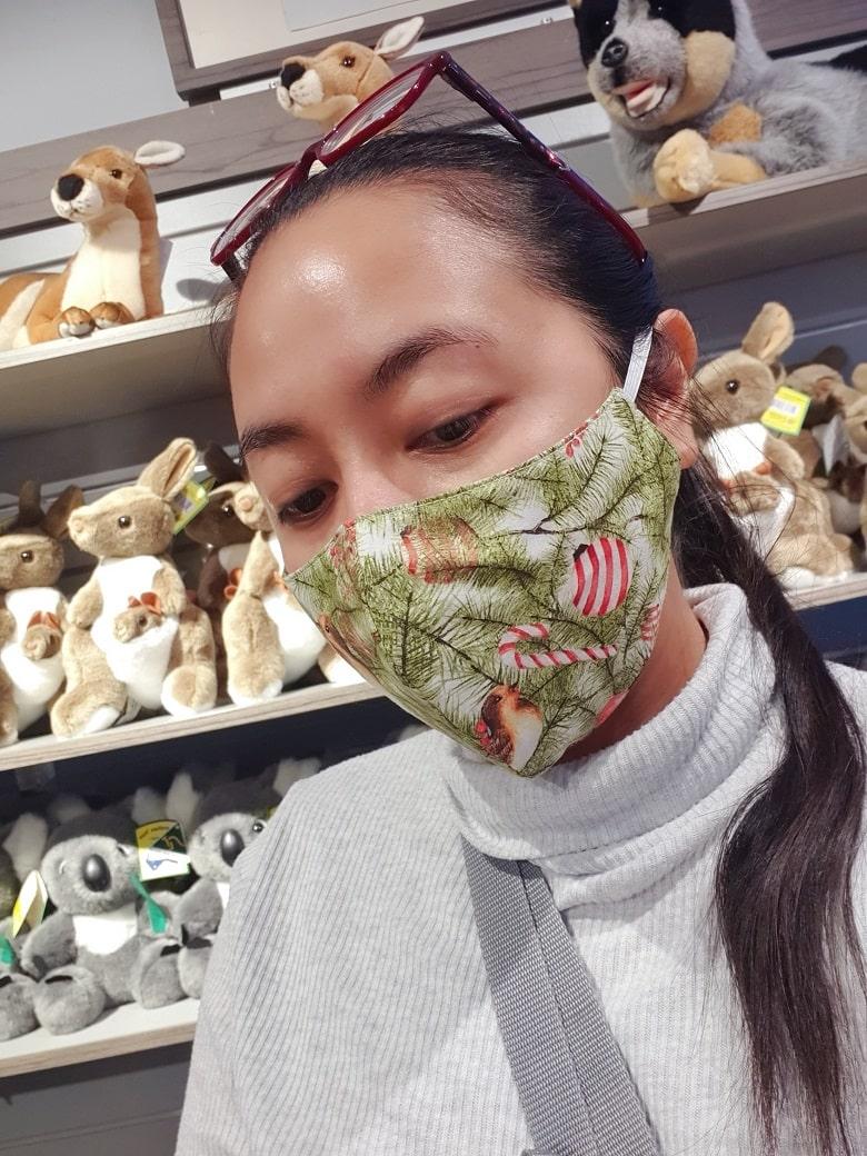 Christmas print facemask