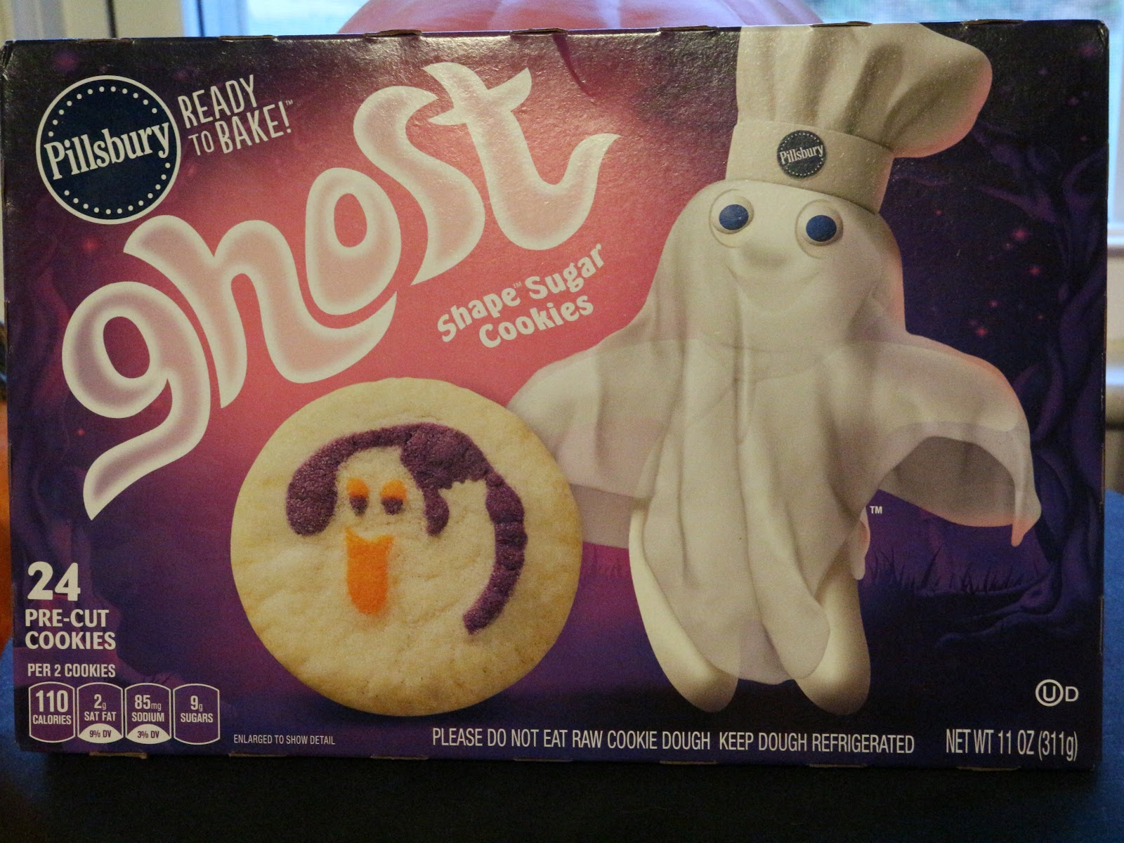 pillsbury releases these ready to bake ghost sugar cookies every year and im always down for them i look forward to them because despite the fact that