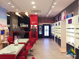projeto arquitetura loja otica iluminação