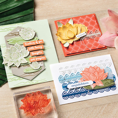 13 Stampin' Up! Sale-a-Bration 2020 Lovely Lily Pad Stamp Set + Lily Pad Dies  Projects #stampinup #saleabration