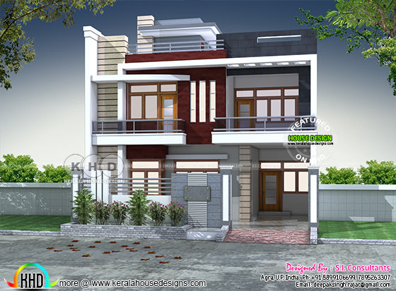 North Indian contemporary home plan