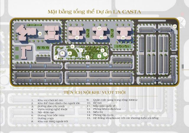 Mặt bằng tiện ích toàn khu của La Casta