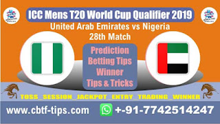 Who will win Today, ICC Men's WC T20 Qualifier 2019, 28th Match NIG vs UAE