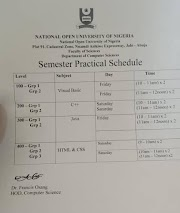 Semester Practical Shedule