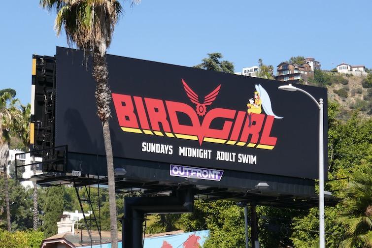Birdgirl Adult Swim billboard