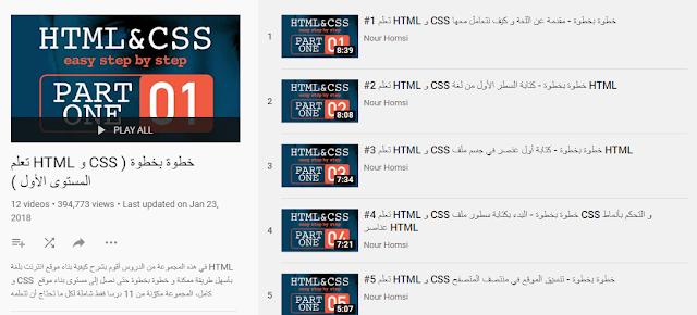 تعلم HTML & CSS خطوة بخطوة
