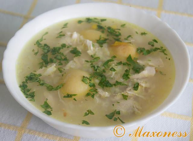 Тоюг шорбасы (куриный суп). Азербайджанская кухня