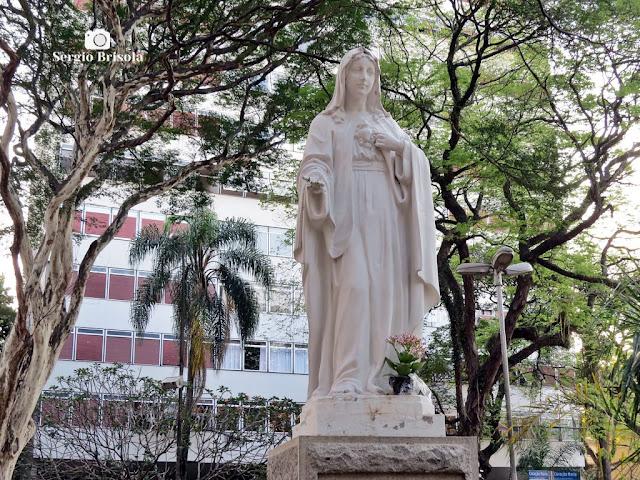 Close-up da Escultura Coração de Maria - Jardim Europa - São Paulo