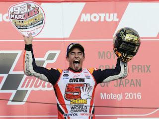 MOTO GP - Marc Márquez ya es tricampeón del mundo de Moto GP, su quinto título mundial