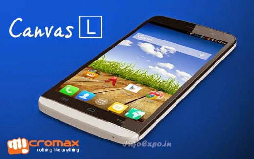 Micromax A108 Canvas L: 5.5 inch Android Kitkat Specs and Price