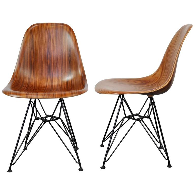 Select modern pair of eames herman miller palisander and black eiffel base d - Eames chair herman miller ...