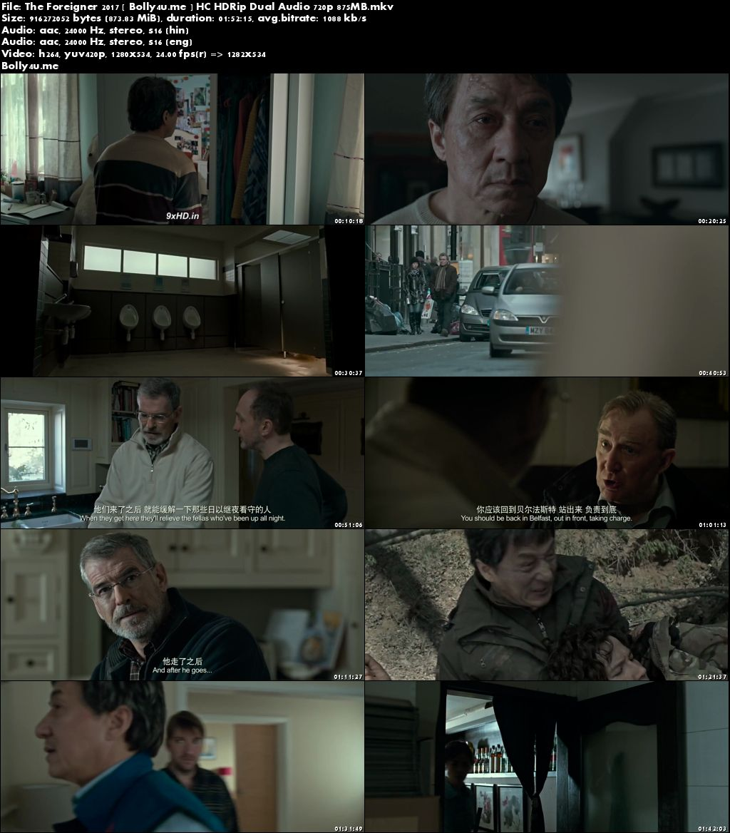 The Foreigner 2017 HC HDRip 350MB Hindi Dual Audio 480p Download