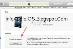 Cara Update iOS 6 Tanpa Koneksi Internet Via iTunes