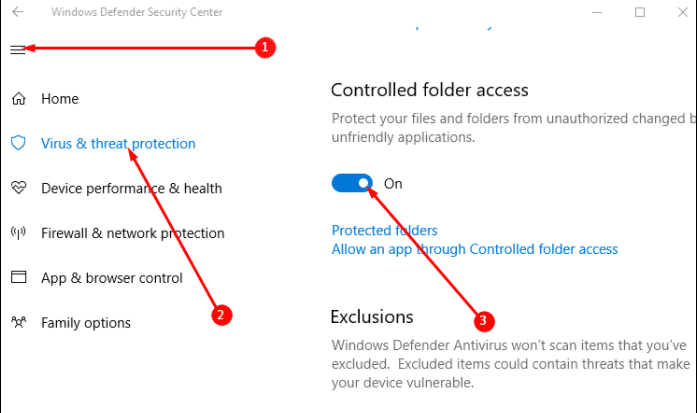 How to Turn on Controlled Folder Access in Windows 10