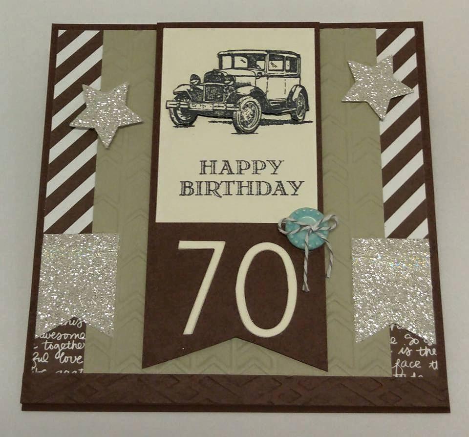 Create With Seongsook Happy 70th Birthday Easel Card